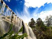 Beautiful waterfall in the Novosibirsk, Russia — Stock Photo