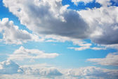 Blue sky with clouds — Foto Stock