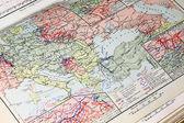 Primeira guerra mundial mapa militar — Fotografia Stock