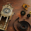 Old broken watches and parts for watches — Stock Photo