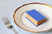 Book for dinner — Stock Photo
