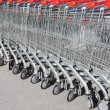 Shopping carts in rows — Stock Photo #25198853