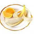 Orange and banana — Stock Photo