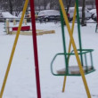Stock Video: Baby swing in winter