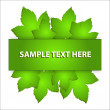 Vector leaf banner - Stock Vector