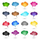 Glossy colored bubbles — Stock Vector