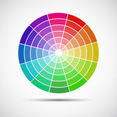 Color round palette on gray background, vector illustration — Stok Vektör