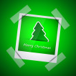 Постер, плакат: Green picture of merry christmas