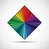 абстрактні кольори квадратних ізольовані на білому тлі — Stok Vektör