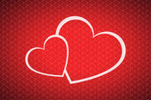 Vector valentines day background with two hearts — Stock Vector