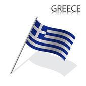 Realistyczne grecką banderą — Wektor stockowy