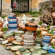 Traditional ceramic pots for sale — Foto de stock #14270877