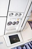 Control panel and flight info — Stock Photo