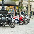 Motorcycles parked in Trafalgar Square — Stock Photo #14972411