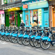 Barclays cycle hire - Stock Photo