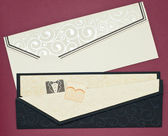 Wedding invitation and envelope — Stock Photo