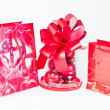 Red Christmas Bags — Stock Photo
