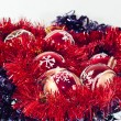 Stock Photo: Tinsel and christmas balls
