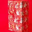 Red Paper Christmas Bag — 图库照片
