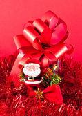Röda juldekorationer — Stockfoto