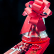 Jewelry red boxes and gift balls — Stock Photo #17029627