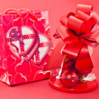 Red gift bags — Stock Photo