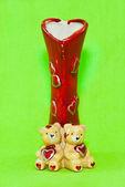 Valentine red vase — Stock Photo