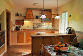 Rustic kitchen — Stock Photo