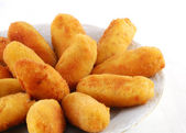 Dish of croquettes — Stock Photo