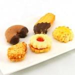 Tea five cakes — Stock Photo