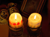 рождественские свечи — Стоковое фото