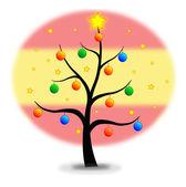 Vánoční stromeček vlajka španělsko — Stock vektor