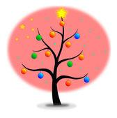 árvore de natal bandeira china — Vetorial Stock