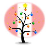 クリスマス ツリー フラグ ペルー — ストックベクタ