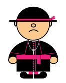 琪琪天主教枢机主教 — 图库矢量图片