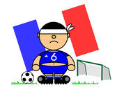 Kiki footballer Flag France — Stock Vector