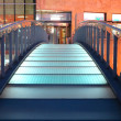Glazing blue bridge - Stock Photo