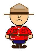 Kiki Canadian Mounted Police — Stock Vector