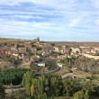 Remote village in Castilia Spain - Stock Photo
