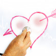 Exploring heart in love — Stock Photo