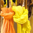 Colored scarves yellow and orange — Stock Photo