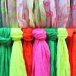 Colored scarves — Stock Photo