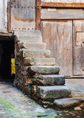 Stone stairs in the village — Stock Photo