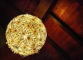 Wood ceiling lamp — Stock Photo