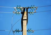 Insulators of medium voltage — Foto Stock