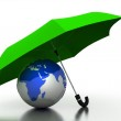 The globe under the umbrella of, 3D — Stock Photo #30305941