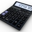 Black calculator 3D. Mathematics object. Isolated on white backg — Stock Photo #30308553