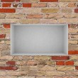 3d empty niche with spotlights for exhibit in the gallery — Stock Photo