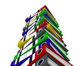 Color folders for documents, 3D — Stock Photo