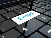 Keyboard emal key — Stock Photo